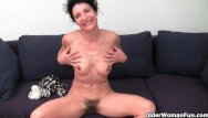 Cunt punting Granny in soaked panties fingering hairy cunt