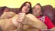 Pussy over 40 - Busty redhead milf jerks off a boner