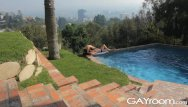 Gay pool cleaner Gayroom hot guys wet from pool and fucking