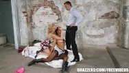 X-factor abbey porn Back ally threesome with abbey - brazzers