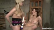 Pigtails tube sex Two women in pigtails having strapon sex