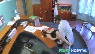 Staff porn Fakehospital - busty new staff member sucking