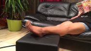 My sex free nylon Long nylon footplay by my stepmom