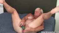 Woman who love anal British granny loves a dildo up her ass