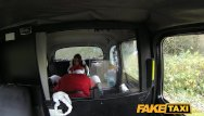 Fucking funny Faketaxi party girl gets fucked in taxi