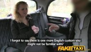 Adult xmas party Faketaxi hot blonde tourist does xmas anal