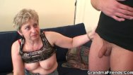 Black grandma sex Grandma in black stockings sucks and rides