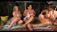 Breast size 38j Angelina castro outdoors oily threesome and s