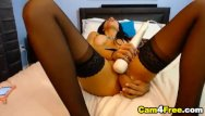 Massive insertion porn videos Gorgeous babe inserts a massive dildo in her