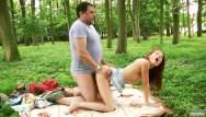Teenie redhead fucking Old forester fucks hard teenie in the woods