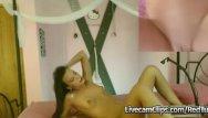 Dildo sex clips Hot chick with a dildo sex machine double cam