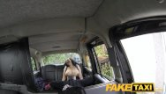 Hairy vetch Faketaxi huge tits and a big hairy pussy