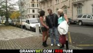 Grannie free sex picks Stud picks up and fucks an old prostitute