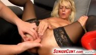 Hot sexy seniors horny Young old twat fingering with horny milf koko