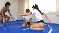 Female midgets oil wrestling Subtitles japanese sumo oil wrestling game
