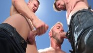 Gay camping michigan Ragingstallion threesome at the porn camp