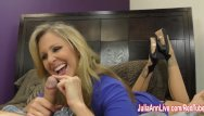 Jack off tranny - Busty milf julia ann jacks him off