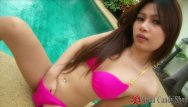 The malibu bikini shop Thailand girl poolside solo