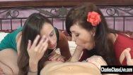 Young cum sluts Charlee chase and young slut get cum facials