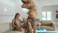 Deck skateboard vintage Big ass latina teen chased by lesbian loving trex on hoverboard then fucked