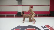 100 japanese orgy Ebony babes battle in 100 real competitive erotic wrestling match