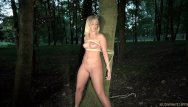 Puksc spanking humiliation mild domination Slave suffers bondage pain rough fuck mouth use humiliation in the woods