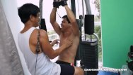 Gay escorts chicago ticklish Asian boy vahn gets a ticklish workout