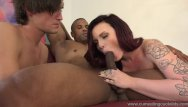 Femdom naked stud Chloe carter big black stud fucks her in front of hubby