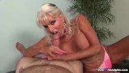 Granny handjob free video - Granny loves jerking cocks