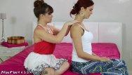 Unusual sex position demonstration Nurumassage daughter demonstrates nuru for stepmom
