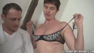 Granma tit pics Threesome with hairy pussy granma in red lingerie