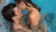 Sexy adult pool floatie Hot pool fuck with a sexy teen