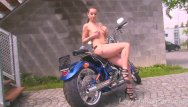 Glow strips for motorcycles Hot motorcycle babe strips for the camera