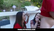Sexy jennifer brenner - Familystrokes - sexy milf joins step-son daughter in threesome
