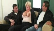Cum facial drunk Hot threesome with totally drunk granny
