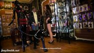See through lingerie models - Jeny shows her see through dress to a stranger
