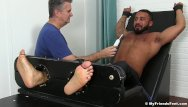 Gay electrical torture Damian taylor is bound to the torture bed and gets tickled