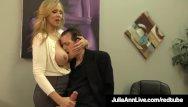 Sexual harrassment lawsuit awards Adult award winner julia ann drains a cock with hot handjob