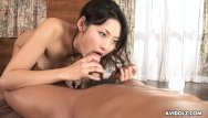 Free hairy riding tube Gorgeous asian brunette passionately sucks and rides a hairy boner