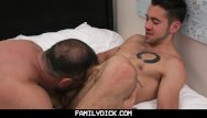 Older gay naked Familydick - young stud taught how to fuck by his scruffy older daddy