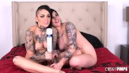 Best live xxx webcam These two tattooed babes make each other cum hard live