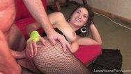 Mistress that loves wearing pantyhose Hot brunette wears lingerie for fantasy session