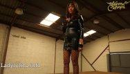 Wetlook fully clothed pantyhose - Mature wetlook herrin carmen walk high-heels fishnets pvc mistress