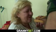 Big boobed milf rides young cock Grandma with huge boobs rides his young cock