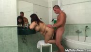 Son-in-law fucking Busty mom and son-in-law fucking in the bathroom