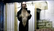 Fuck straight jackets Sexy babe cath puts on tight pvc catsuit and leather pants jacket