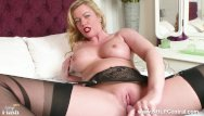 Tranny nylons and high heels Hot milf holly kiss toys wet pussy in black nylons kinky high heels garters