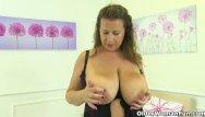 Heavy hangers mature females Uk milf sabrina jade will please you with her big hangers