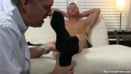 Gay black mature guys Mature guys feet worship makes a hunk stroke until cumming