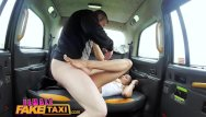 Free shaven pussy pics - Female fake taxi petite ebony cabbie with tiny shaven pussy fucks passenger